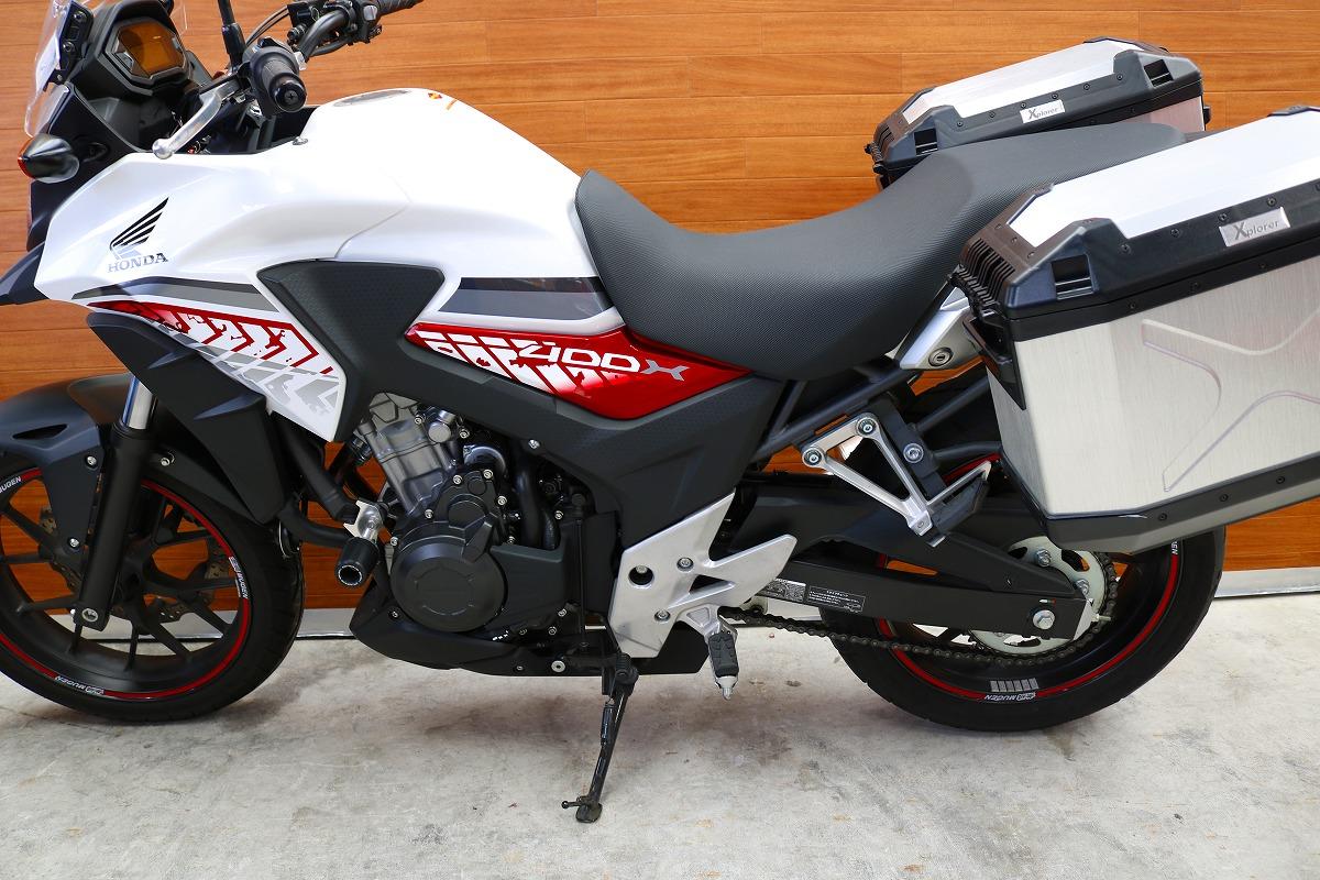 【熊本中古車バイク情報】ホンダ 400X 400㏄ 白 | 熊本のバイクショップ アール。バイクの新車・中古車販売や買取、レンタルバイクのことならおまかせください。